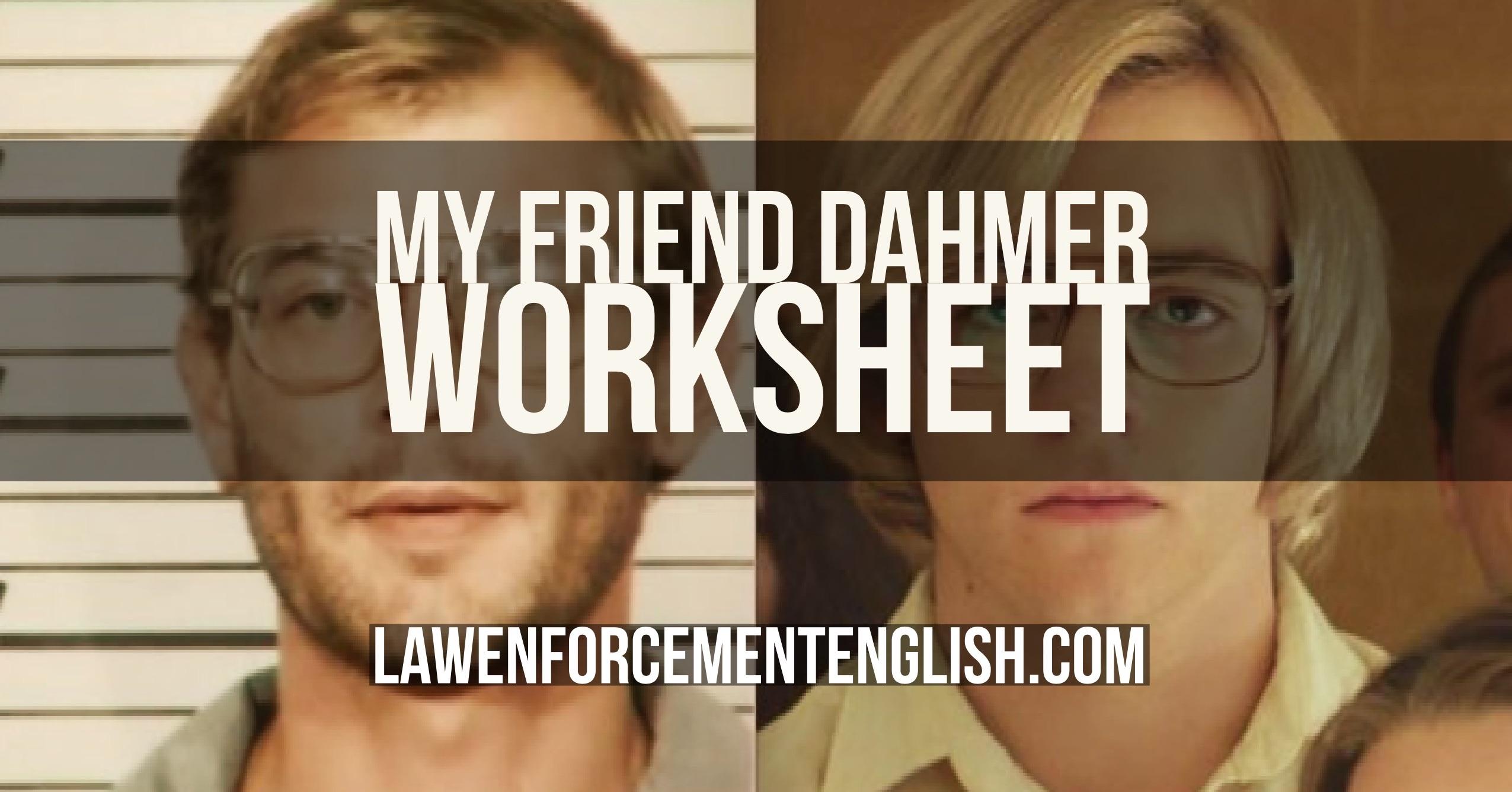 WORKSHEET: 'My Friend Dahmer Trailer' – with KEY