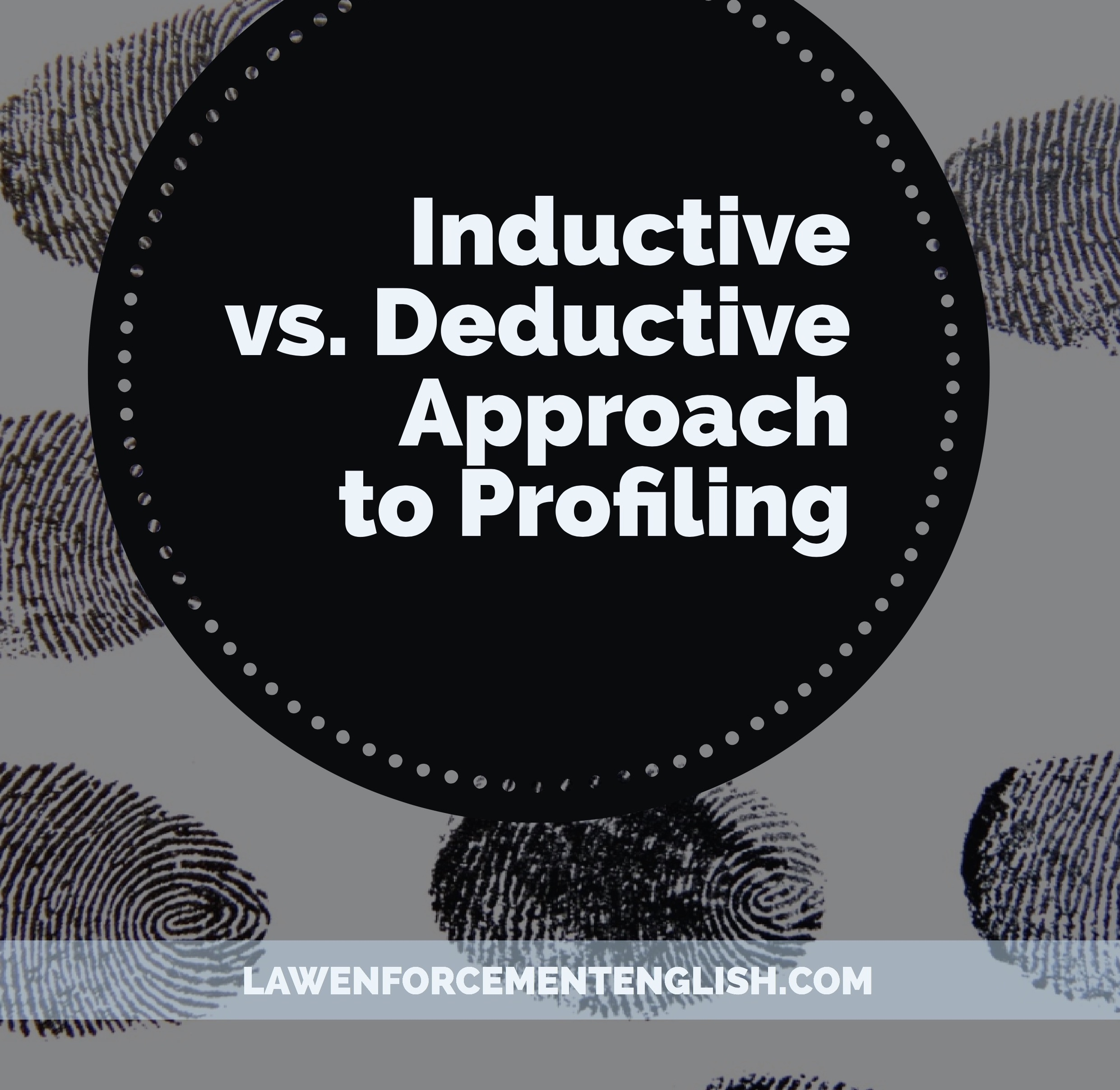 Inductive vs. Deductive Approach to Profiling : An Introduction