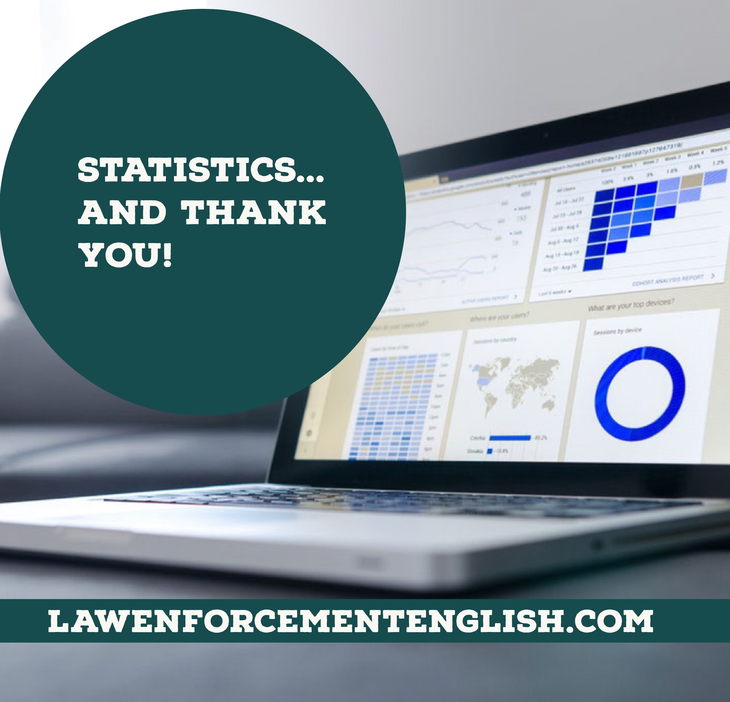 Statistics and thank you